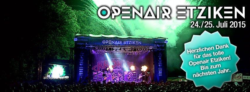Open Air Etziken 24. und 25. Juli 2015