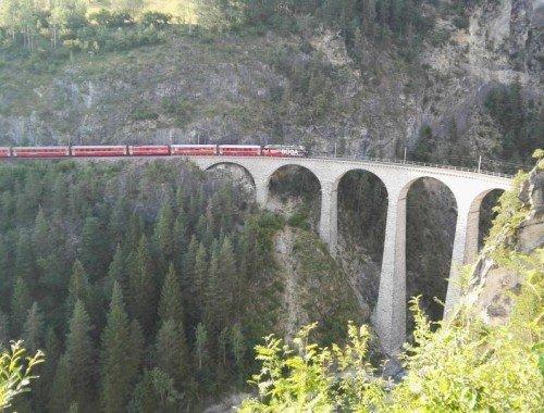 Ferien in Graubünden Filisur - Landwasserviadukt