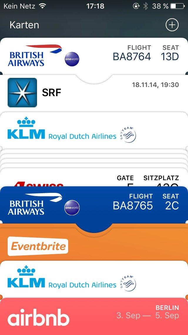Digitales Reisen Wallet