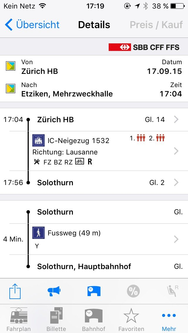 Digitales Reisen SBB