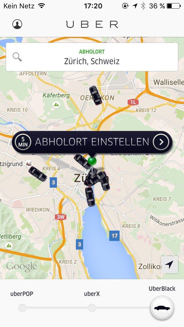 Digitales Reisen Uber