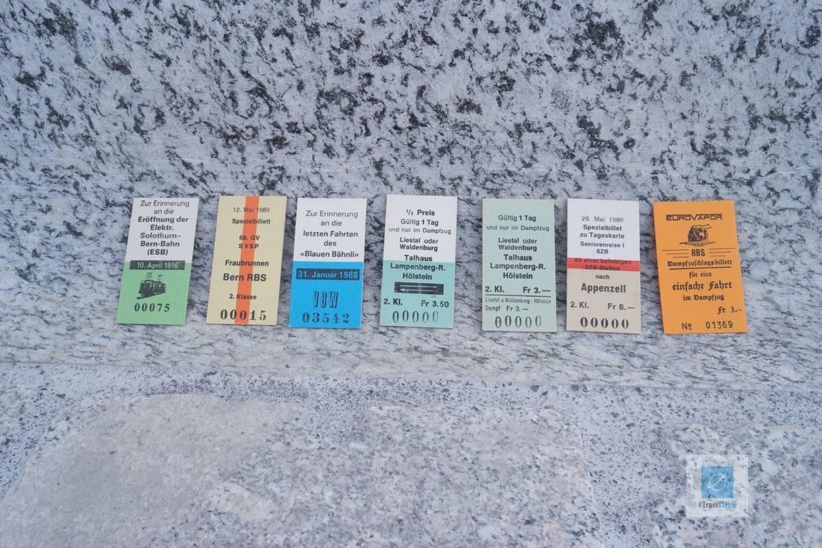 Alte Kinderbillette der RBS