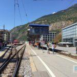 Bahnhof Brig und die hinteren Geleise