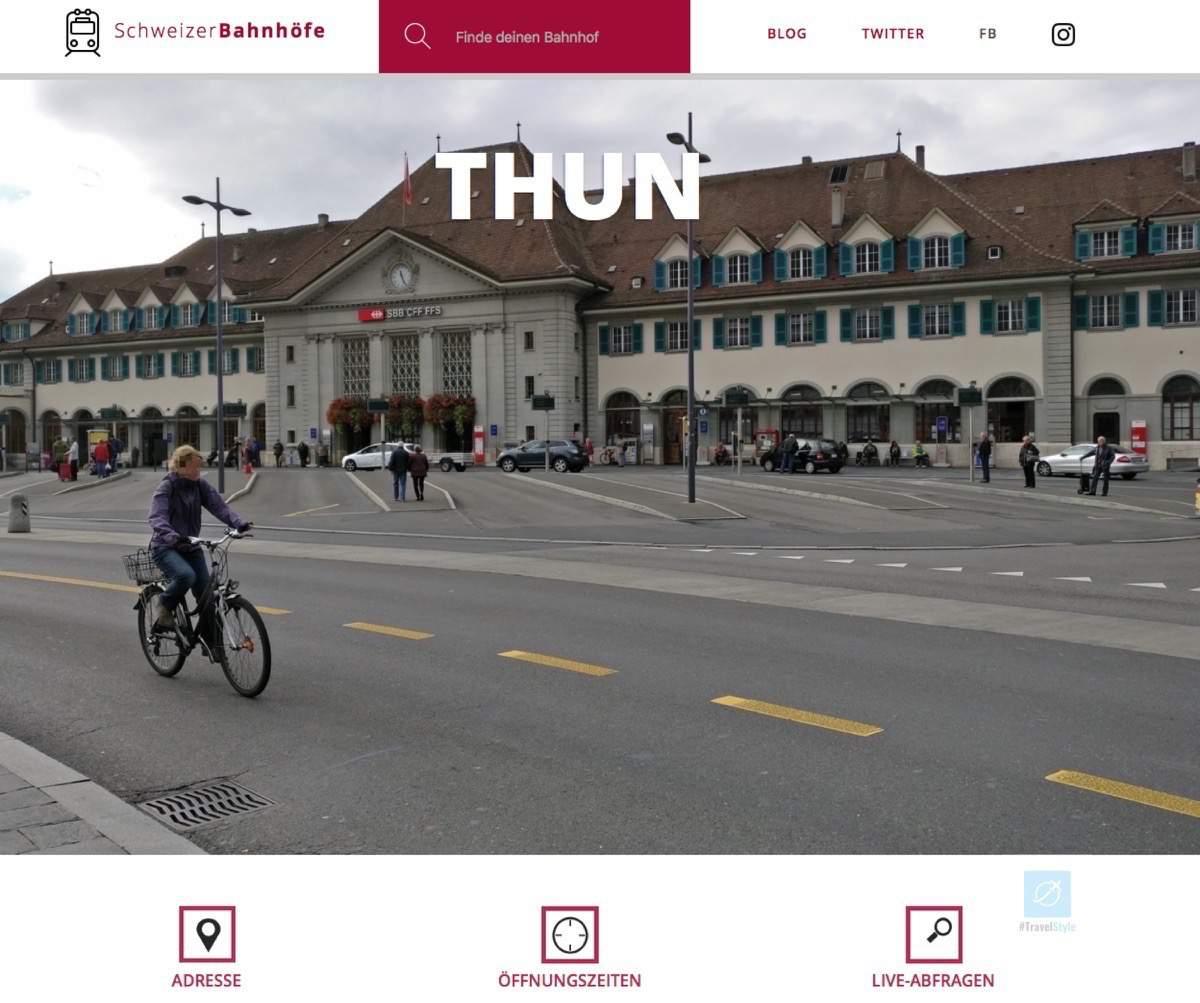 Schweizer Bahnhöfe - Beispiel-Eintrag