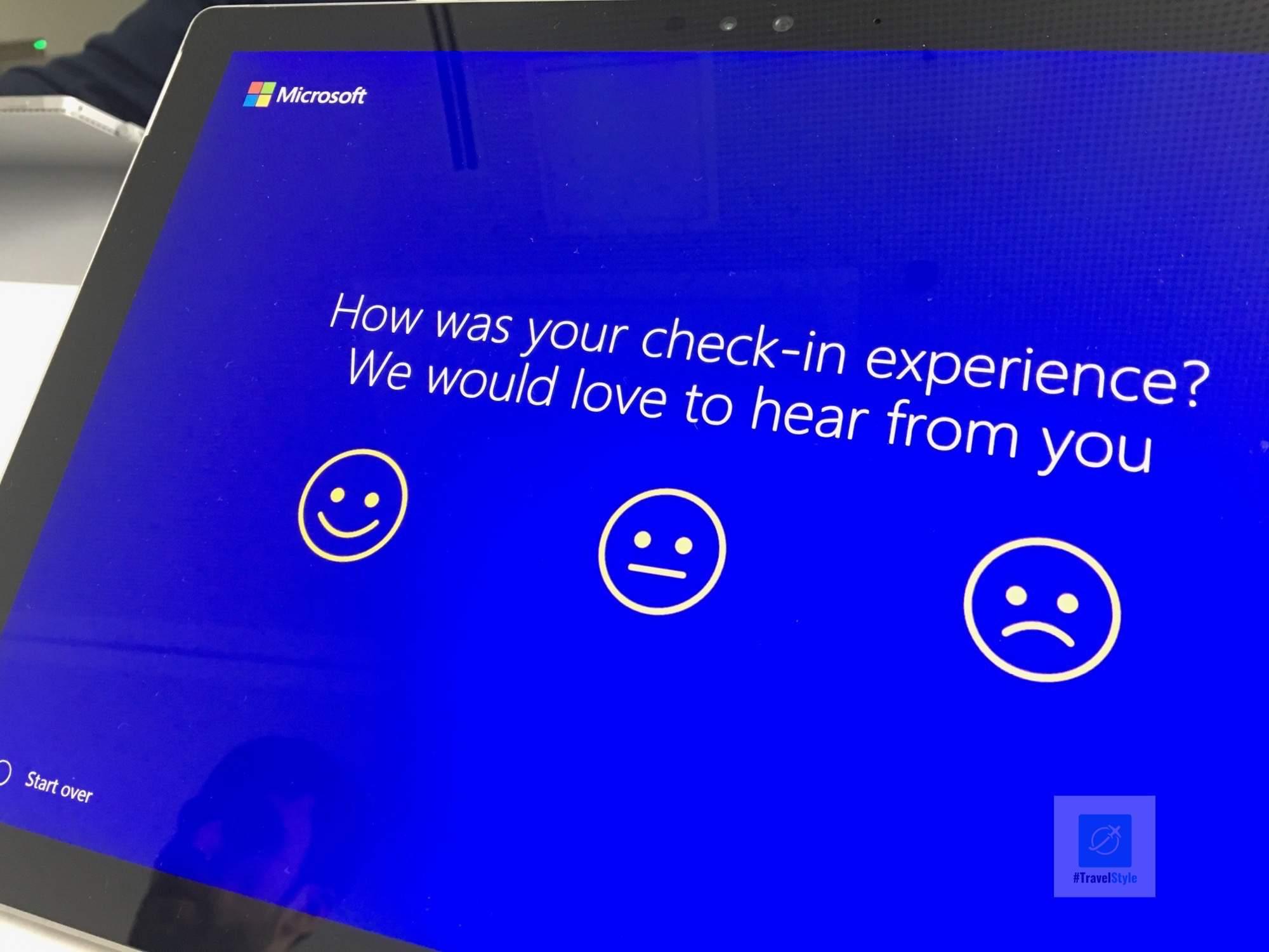 Checkin über ein Surface Tablet