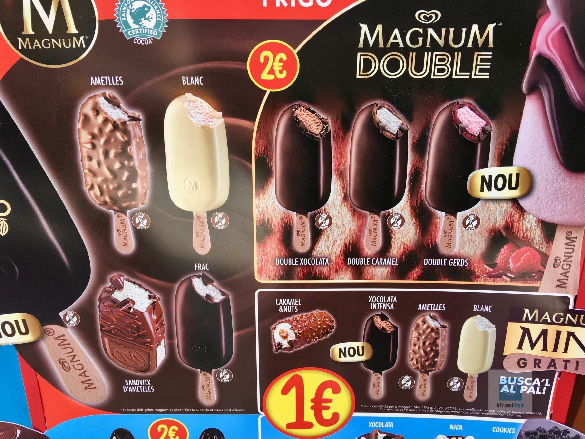 Glutenfreie Magnum Schokolade schön deklariert