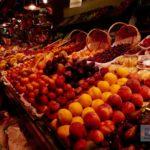 Leckere Früchte im Markt von Barcelona