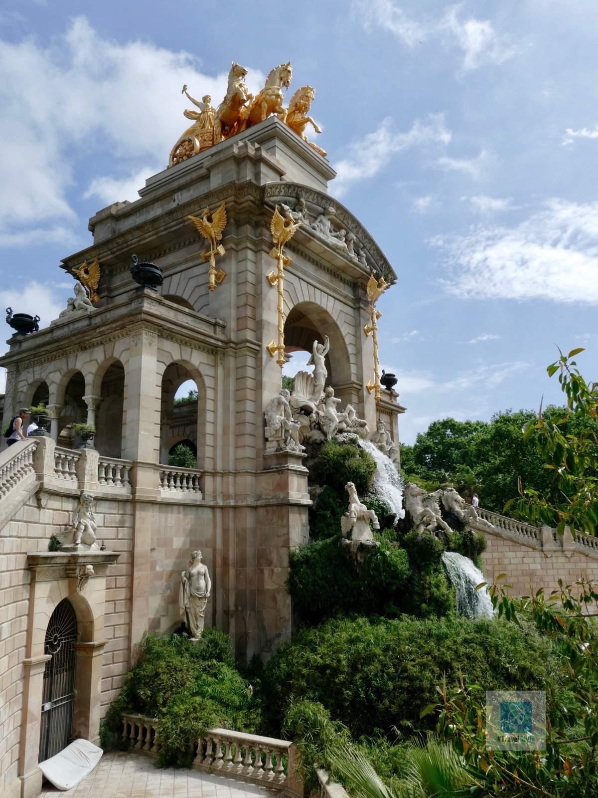 Wasserfontänen im Park Ciutadella