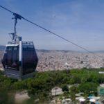 Die Gondel hoch zum Montjuic