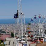Typisches Bild vom Tibidabo runter auf Barca