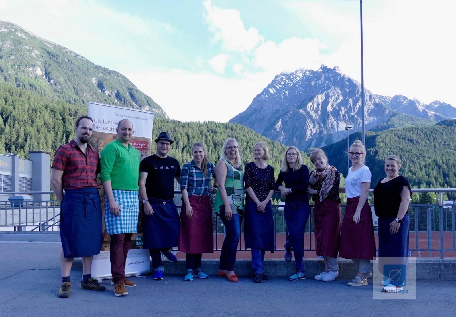 Gemütliches Netzwerken im Bündnerland