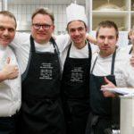 Roberto (Bobo) Cerea Andy Zaugg, Guy Wallyn und ein Teil von seinem Team