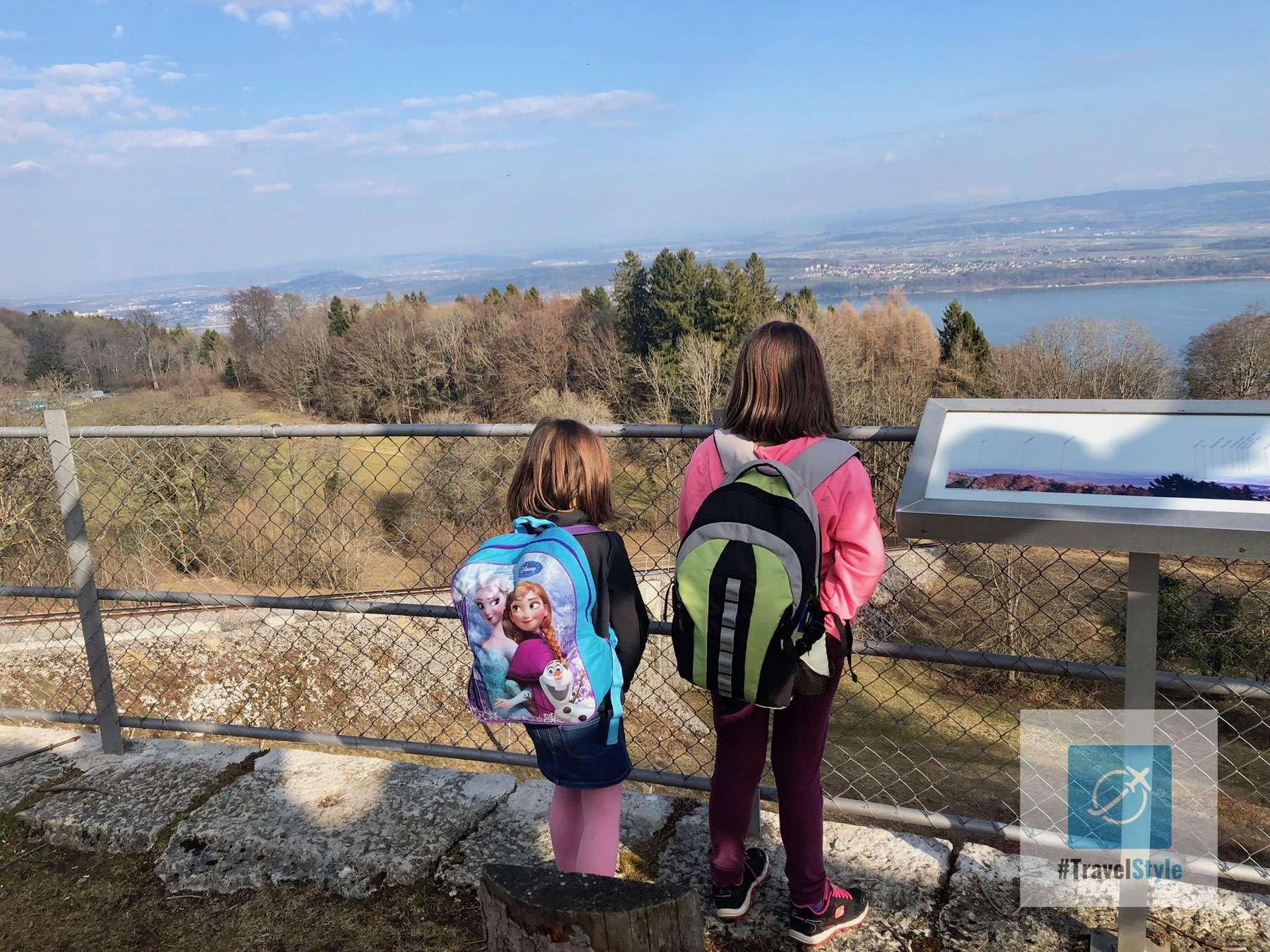 Aussicht über den Bielersee von Prêles