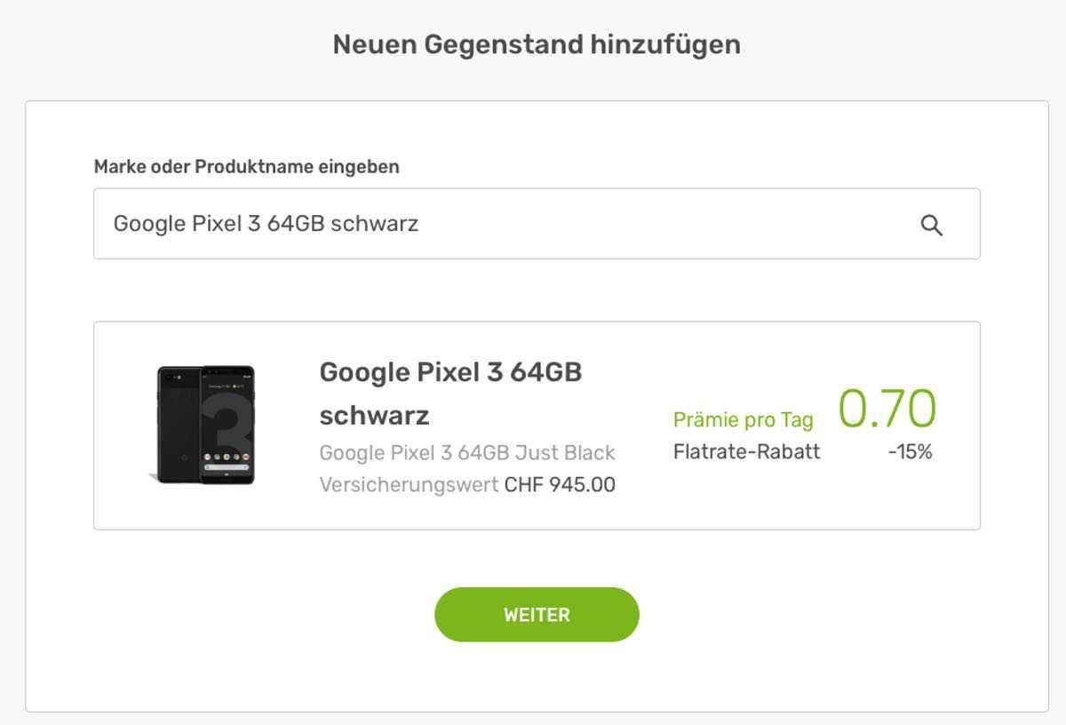 Preis für neues Gadget